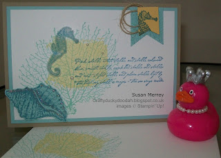Stampin' Up! Made by Susan Merrey Independent Stampin' Up! Demonstrator, Craftyduckydoodah!, By The Tide, Work of Art