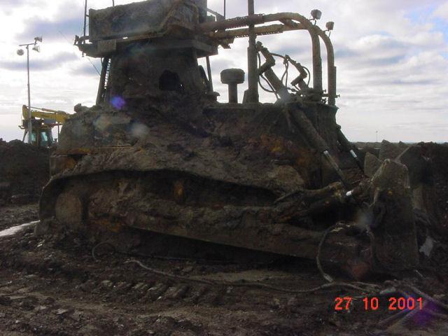 Industry Mayhem: Sunk Komatsu Dozer