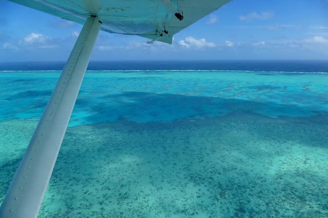 Wasserflugzeug, Tragfläche, blau, Riff, Heron Island, Insel, Australien