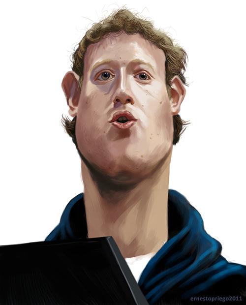 "Caricatura de ""Mark Zuckerberg"" por Ernesto Priego"