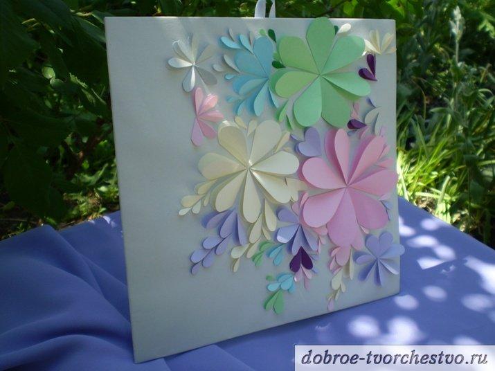 открытка с нежными цветами