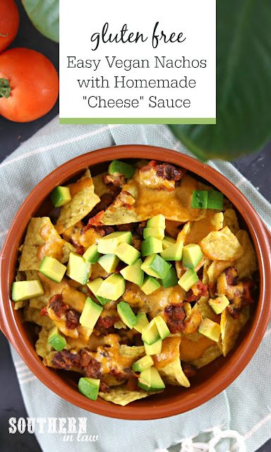 Gluten Free Easy Vegan Nachos with Homemade Cheese Sauce – gluten free, healthy, meat free, dairy free, plant based