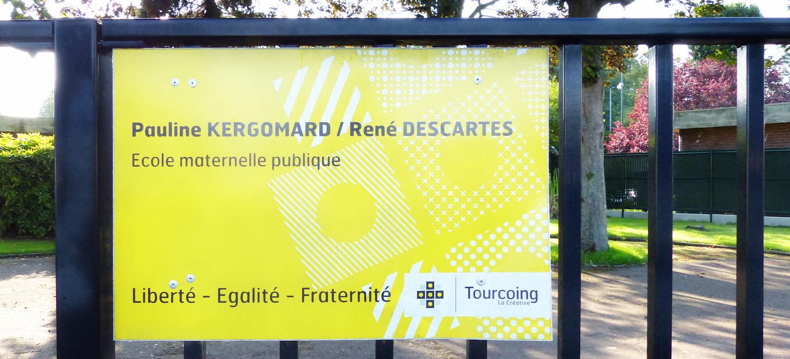 Pauline Kergomard, René Descartes - Ecole maternelle publique