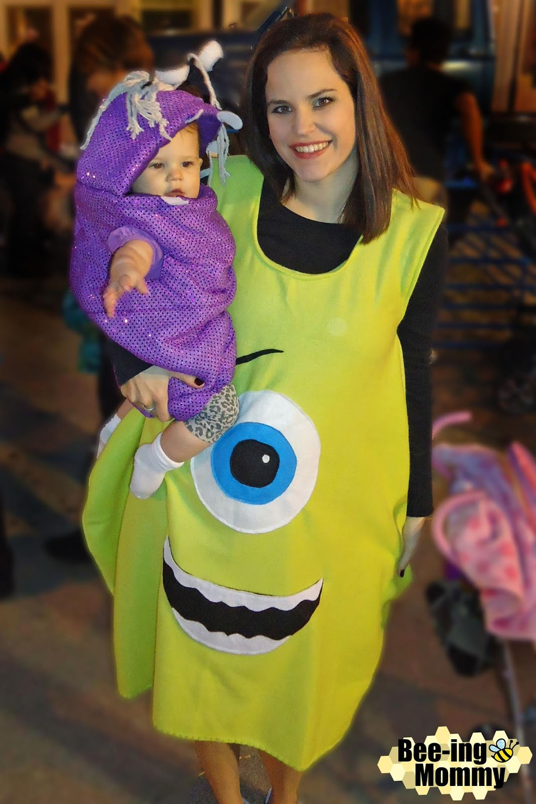 Monster S Inc Family Costume Mike Sully Boo