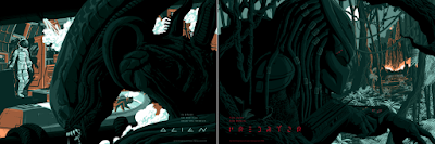 Alien & Predator Screen Prints by Florey x Bottleneck Gallery x Acme Archives