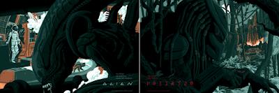 Alien & Predator Screen Prints by Florey x Bottleneck Gallery x Acme Archives