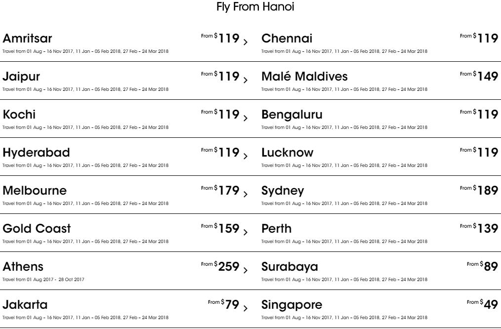 Giá vé Tiger Air-Soot khuyến mãi đi Singapore và quốc tế bay từ Hà Nội
