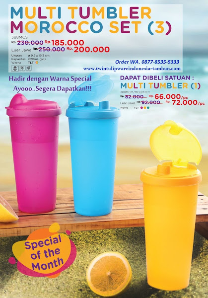 Promo Diskon Multi Tumbler, Morocco Set April 2018