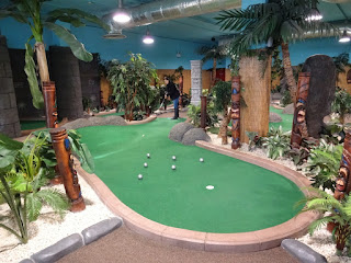 Emily Gottfried in action at Adventure Island Mini Golf in Birmingham
