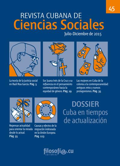 Cubierta del número 45 de la Revista Cubana de Ciencias Sociales, Editorial filosofi@.cu, Instituto de Filosofía