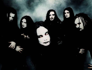 "Photo des membres de Cradle of Filth à l'époque de ""Midian"""