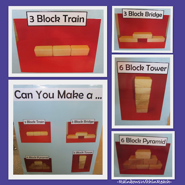 photo of: Visual Learning in the Block Center, Photographs of beginning block structures
