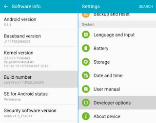 Developer option hp android