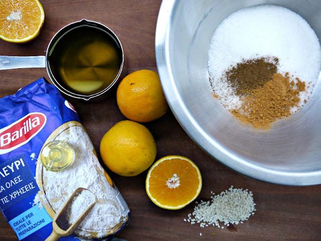 Τραγανά κουλουράκια με ελαιόλαδο και πορτοκάλι