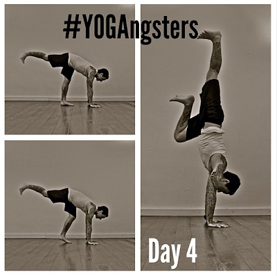 ॐ yogasanity  yogangsters challenge day 4 ॐ handstand
