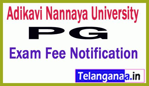 Adikavi Nannaya University PG Exams Fee Notification