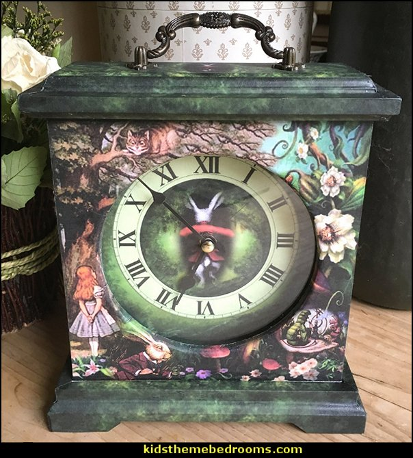 Alice in Wonderland Clock. Cheshire Cat Clock. Down the Rabbit Hole Clock. Carriage Clock. Alice & White Rabbit Clock.Unique Clock