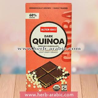 شوكولاتة غامقة عضوية بالكينوا