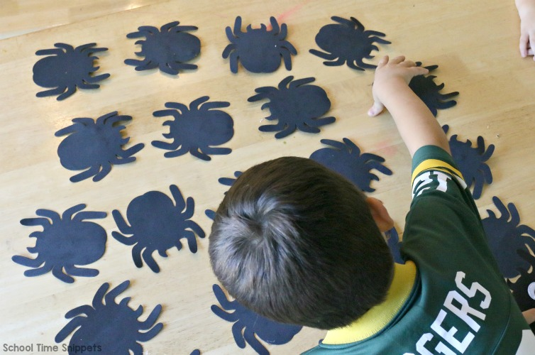 spider number matching game