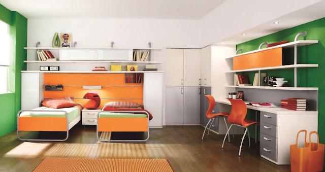 غرفة نوم شباب واولاد كبار ,ويمكن للاطفال ,كبيرة وواسعة , مكتب للمزاكرة والدراسة