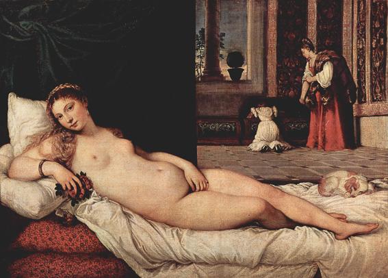 La Venus de Urbino de Tiziano. Galeria Uffizi