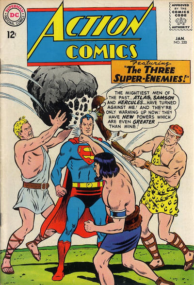 Episode #378 Part IV: Superman Family Comic Book Cover Dated January 1965: Action Comics #320!