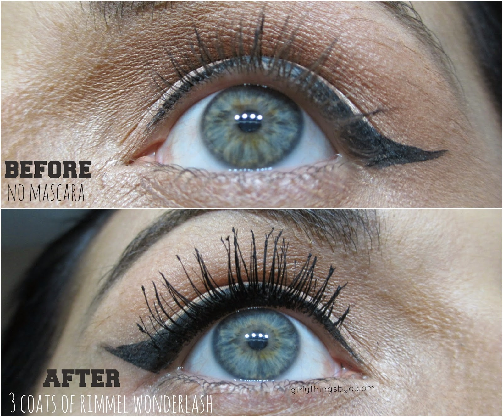 59e03069209 Rimmel Wonder'Lash Mascara with Argan Oil before and after photo