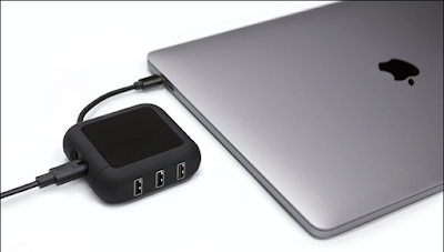 PowerUp 60W AC power can simultaneously charge your USB-C MacBook and up to 3 USB devicesy