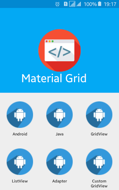 Android Example: How to Make Material Application with GridView