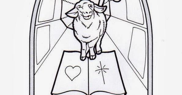 El Rincón de las Melli: VITRAL: Cordero de Dios