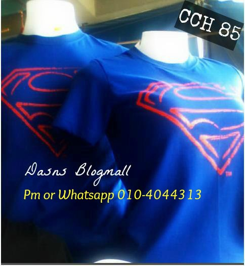 Couple superman tshirt baru balik dari mall - 1 2