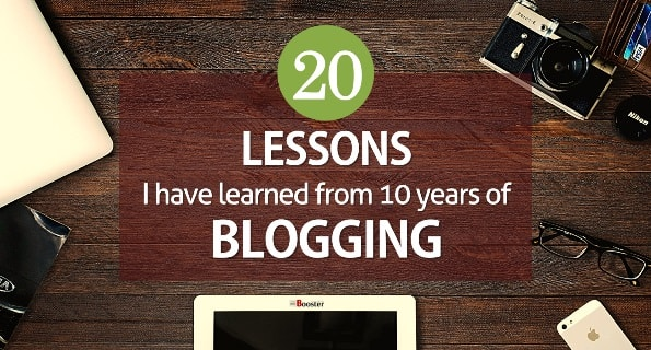 Blogging Lessons I've Learned in Past 10 Years