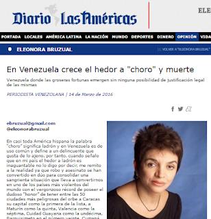 """Na Venezuela, cresce o fedor,o """"gatuno"""" e a morte"""