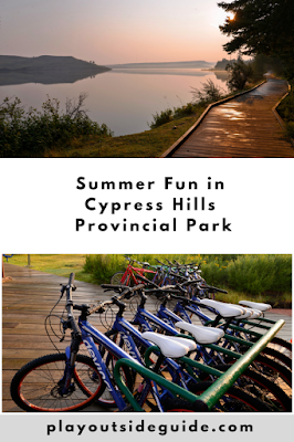 Summer fun in Cypress Hills Provincial Park Pinterest pin