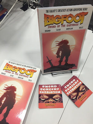 bigfoot sword of the earthman bigfoot comic trade paperback action lab comics bigfoot sasquatch barbarian comic