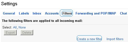 Gmail Filters to prevent you from Spam