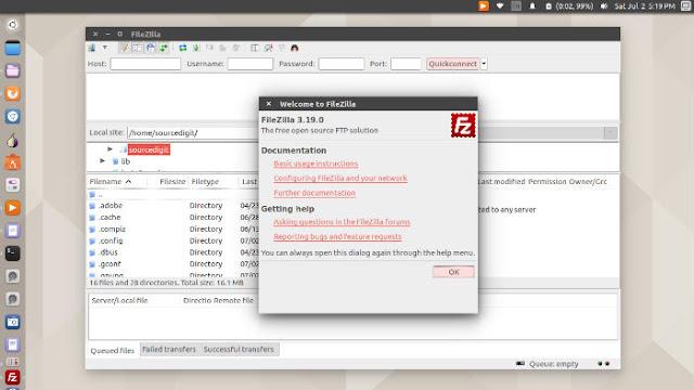 Install FileZilla FTP Client In Ubuntu - Great Ubuntu Tips | Windows ...