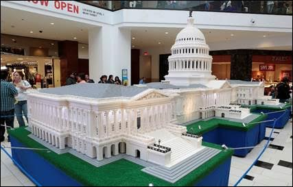 US Capitol Building built from Legos