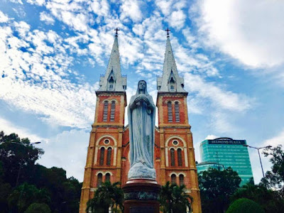 Notre Dame Cathedral is one of the most famous attractions in Ho Chi Minh City Vietnam