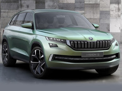 New Up coming 2017 Skoda Kodiaq SUV front view Hd Pictures