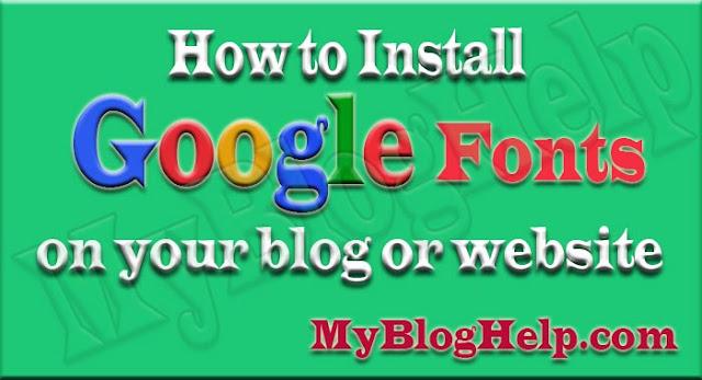 Google-Fonts-on-Blog-or-Website