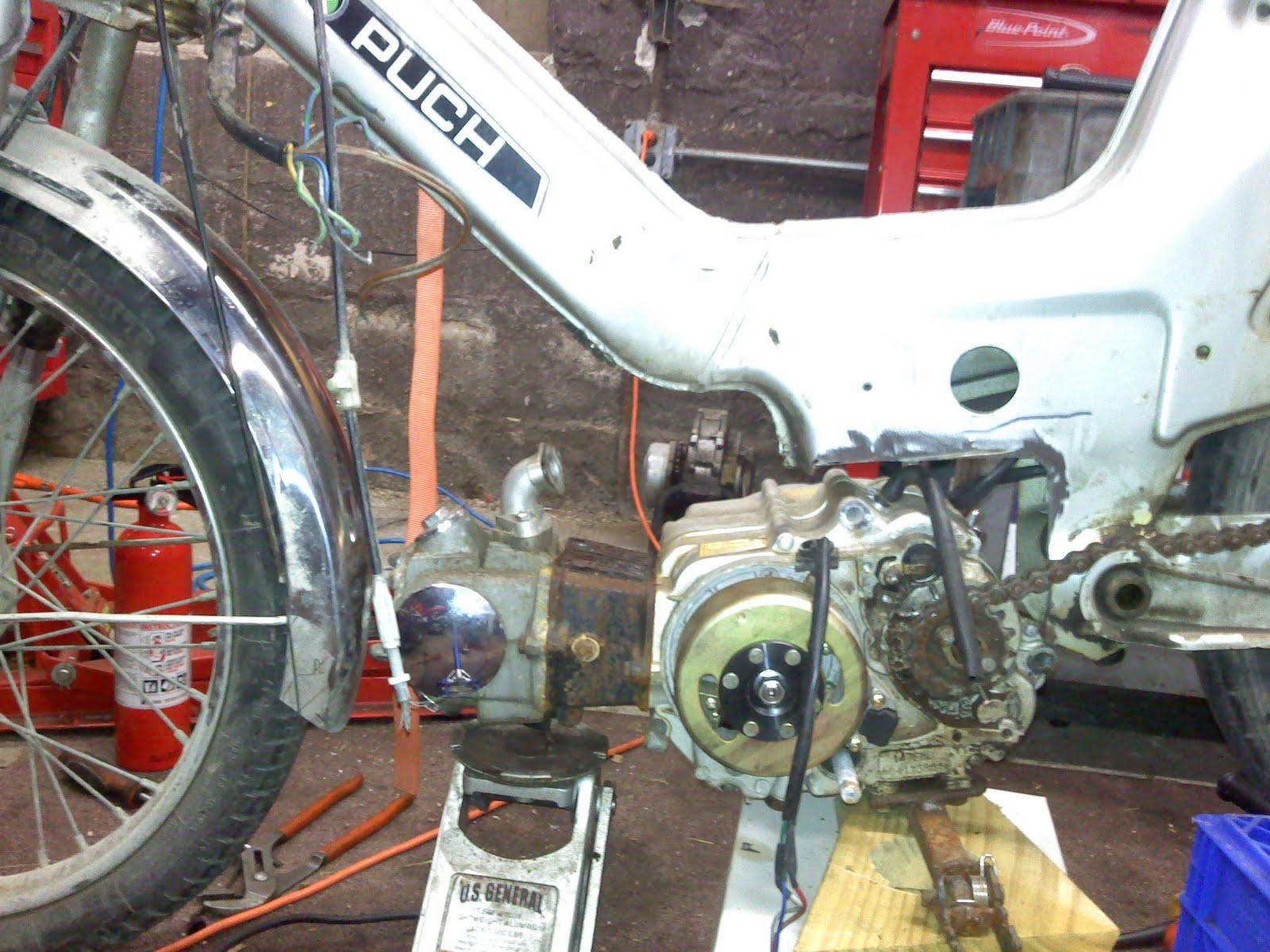 Don's garage: 1979 Puch Maxi CRF50 Engine Swap