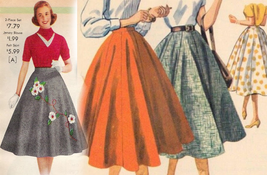 6370c614 Jesień w stylu retro: spódnice rozkloszowane za kolano | MAFFASHION ...