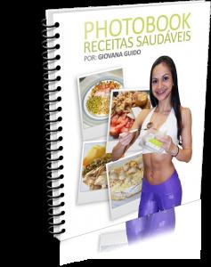 capa do Photobook Com Receitas Saudáveis