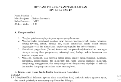 Sebelum melakukan aktivitas mengajar di kelas pertama RPP Bahasa Indonesia SMP Kurikulum 2013 Kelas 7 Semester 2