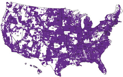 Budget Mobile MVNO Coverage Map