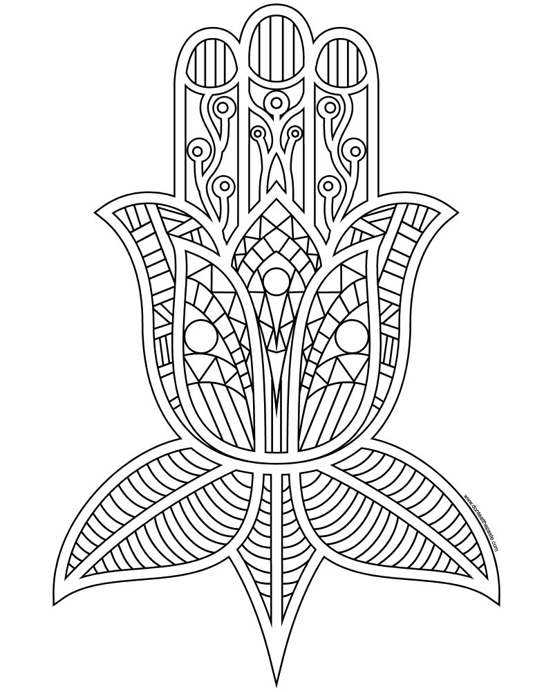 hamsa coloring pages - photo#3