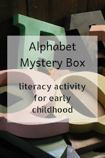 Alphabet Mystery Box: literacy activities for early childhood