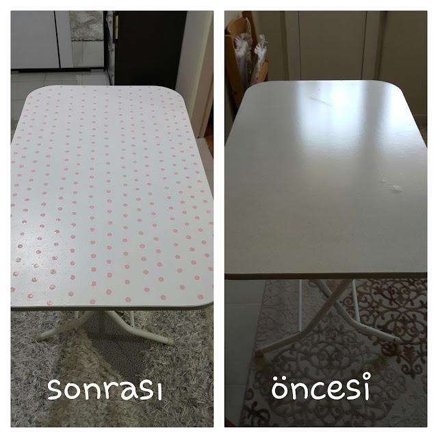Mutfak masası boyama