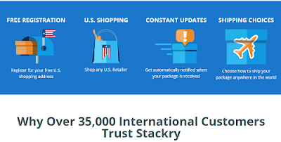 u.s. shopping international delivery